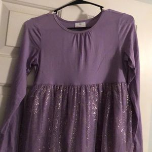 Purple with sparkles Hanna Anderson dress